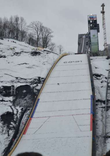 olympic ski jump  sochi inaugurated ski jumping hill archive skisprungschanzencom