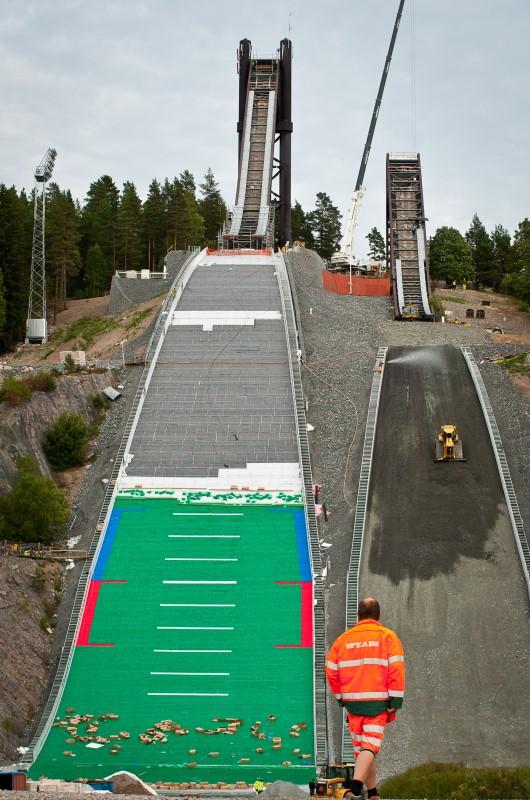 conversion works  falun progressing ski jumping hill archive skisprungschanzencom