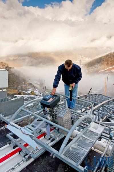 Sochi anlaufspur installiert