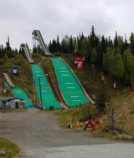 Hilltop Ski Area Anchorage 187 Ski Jumping Hill Archive