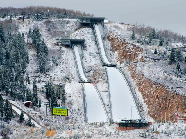 olympic park park city ski jumping hill archive skisprungschanzencom